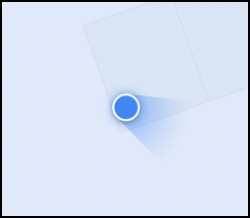 The location of an Android device in Google Maps, with a calibrated compass