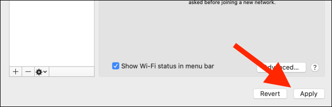 Click on the Apply button to save the Wi-Fi priority list