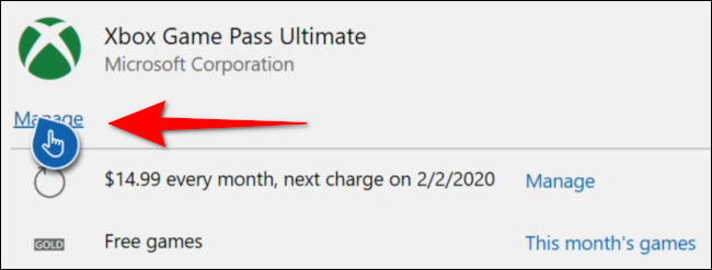 Manage Xbox Game Pass Console