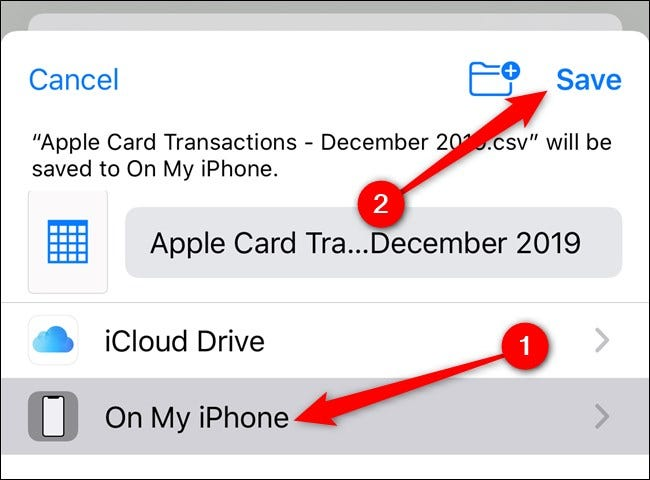 Apple iPhone Select Save Locations and then Tap the Save Button
