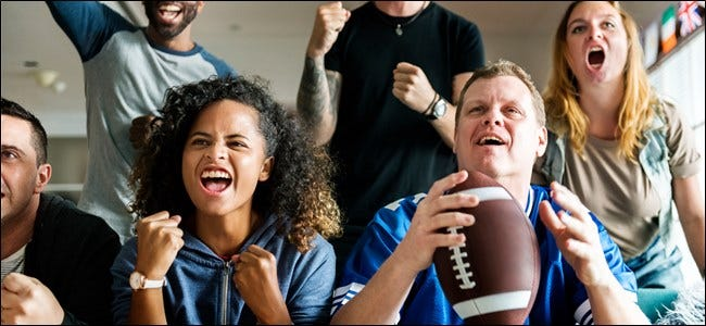 Football Fans watching the big game