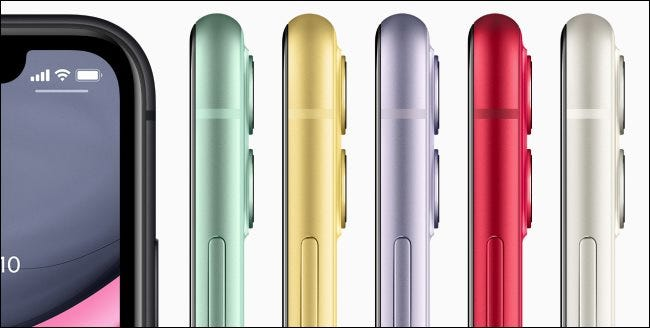 The Apple iPhone 11 in different colors