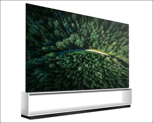 An LG 88-inch OLED Z9 series 8K TV.