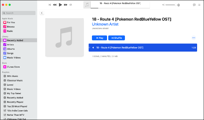 Find Your Audio File in the Music Library