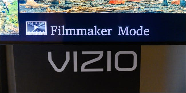 Vizio's Filmmaker Mode display at CES 2020.