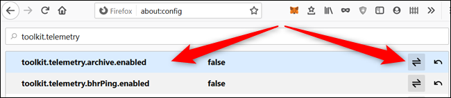 Either double-click the preference or click the arrow to the right to change the value of each one.