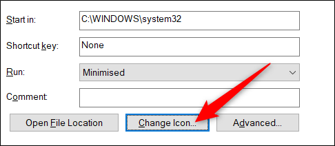 Then change the icon.