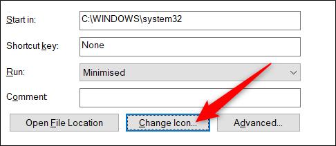 Next, change the icon.