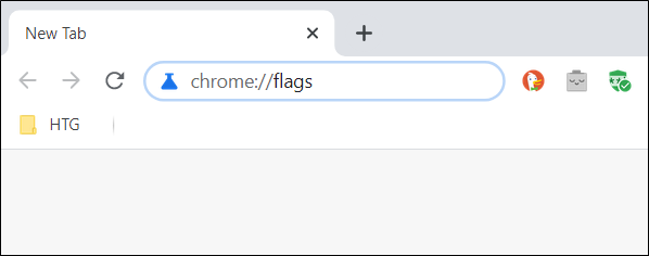 Type in the Flags URL into the Omnibox and hit the Enter key.