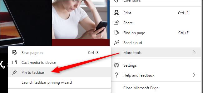 Pin to Taskbar in Edge (New)