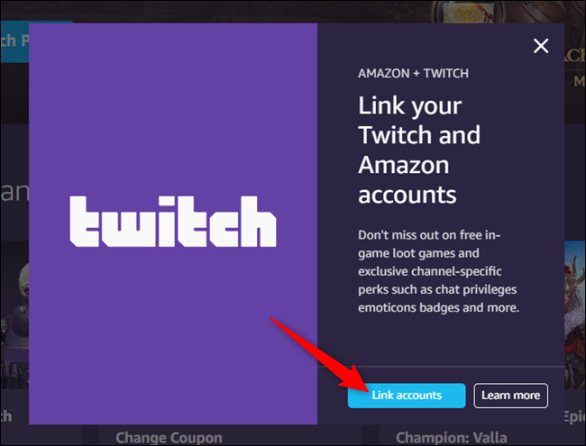 """Click """"Link Accounts."""""""