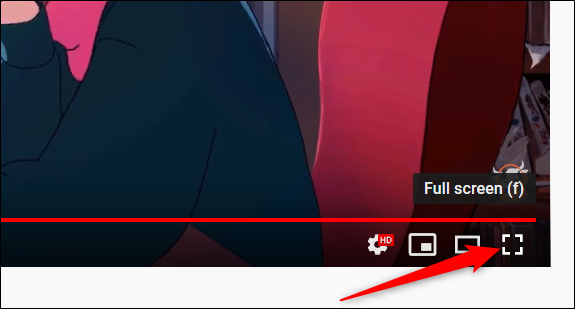 Habilite el modo de pantalla completa haciendo clic en el icono de pantalla completa.