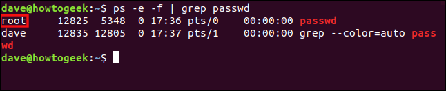 "The ""ps -e -f 