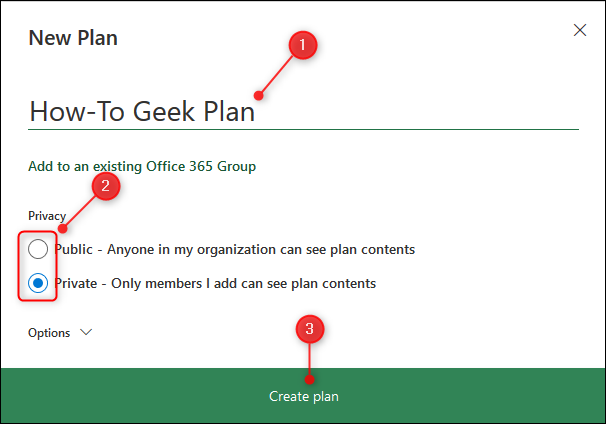 "The ""New Plan"" panel."