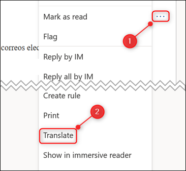 """The pop-up menu with the """"Translate"""" option highlighted."""