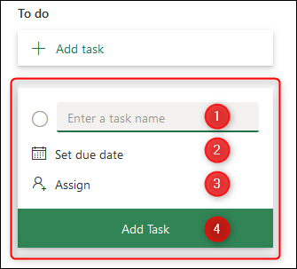 The New Task panel.