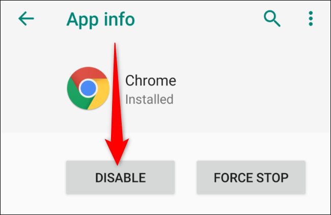 Android Disable Chrome