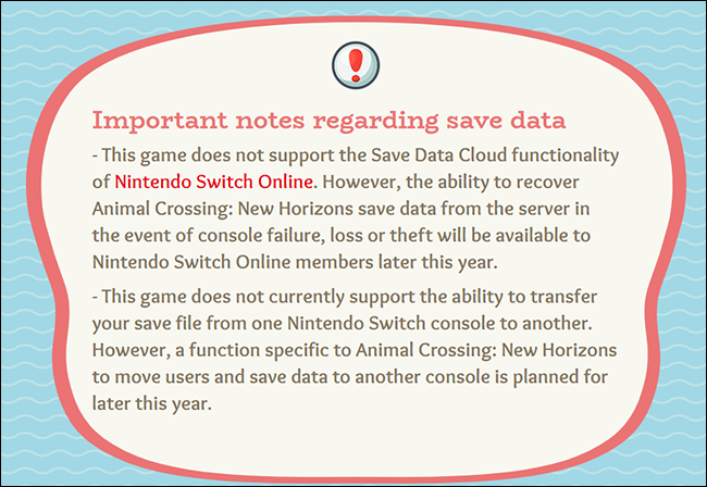 Animal Crossing Save Data Update