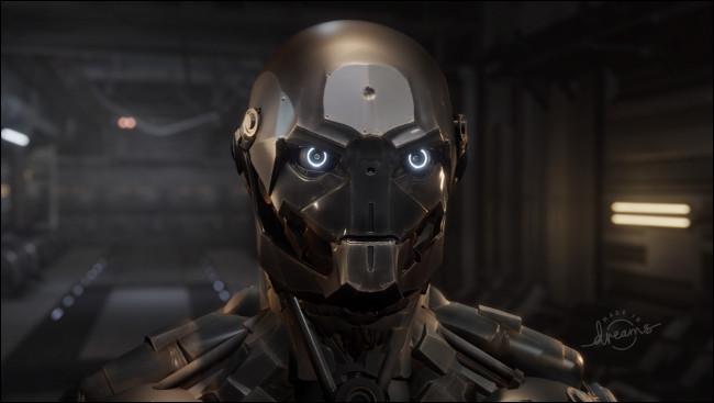 """Un escaparate de esculturas de un robot en """"Sueños""""."""