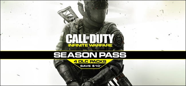 "Ad for a ""Call of Duty"" season pass including four DLC packs."