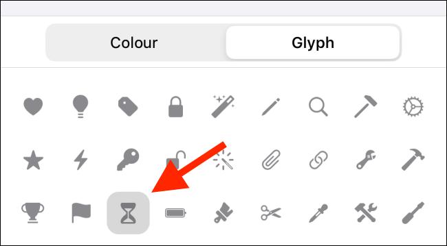 Change the Glyph
