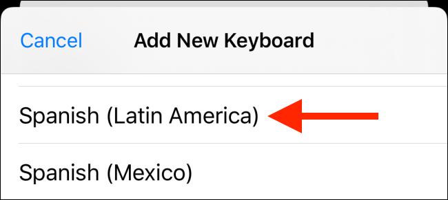 Choose a new language to add