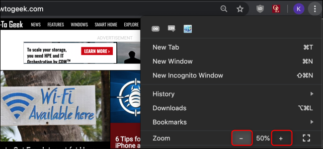 Chrome Set Zoom for One Website