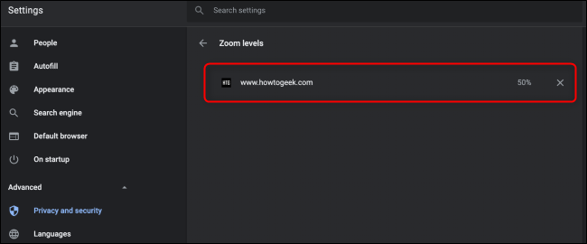 Chrome Zoom Settings