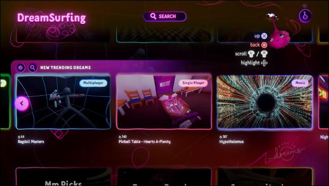 """Dreamsurfing en """"Dreams"""" para PS4."""