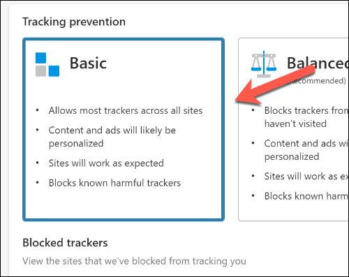 "Click the ""Basic"" option."