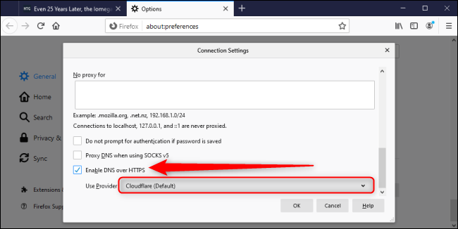 Firefox Connection Settings