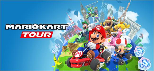 """Los personajes del juego """"Mario Kart Tour"""" de Nintendo."""