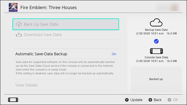 Nintendo Switch Automatic Save Data Cloud
