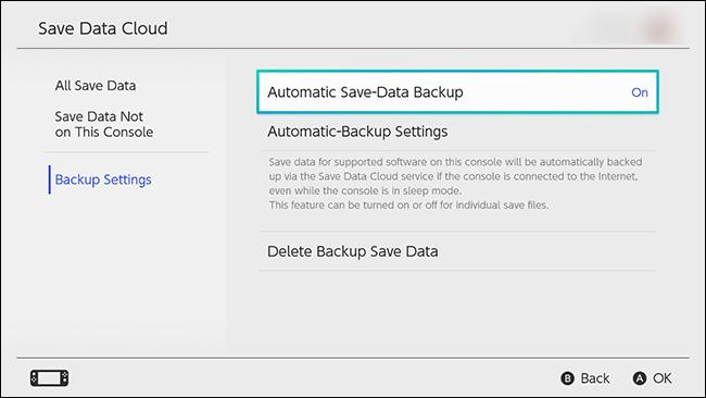 Nintendo Switch Save Data Backup