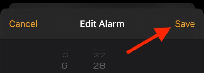 Save the customized alarm
