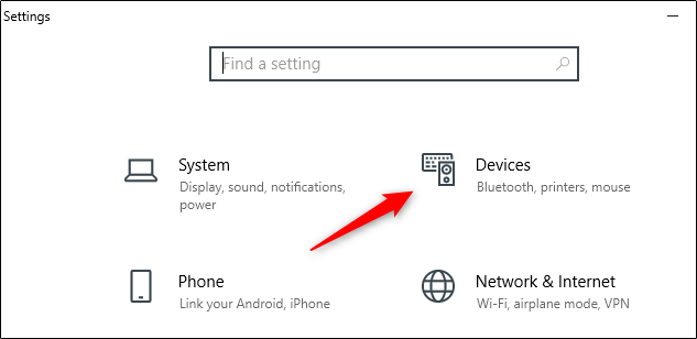 Select Devices option in Settings menu