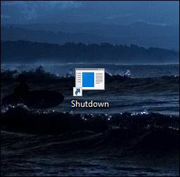 A Shutdown icon on a desktop.