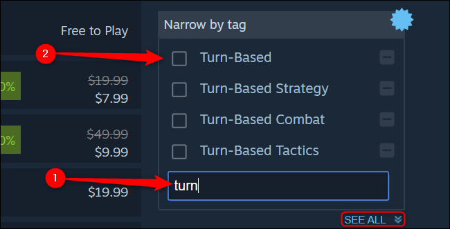 Steam Search by Tag