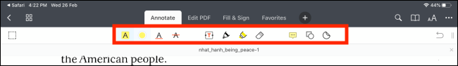 Take a look at the Annotate toolbar in PDF Expert 7