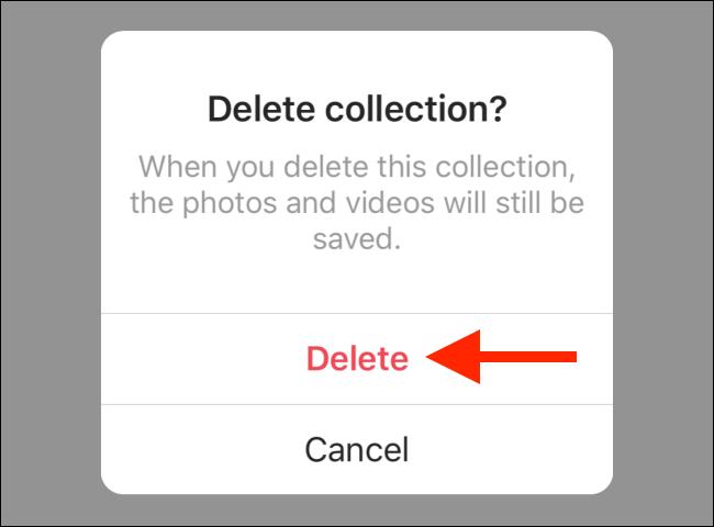 Tap the Delete button