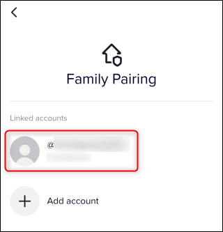 "The ""Linked Accounts"" section under ""Family Pairing."""