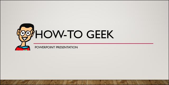 Title slide of old presentation
