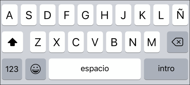 Type away on the new language keyboard