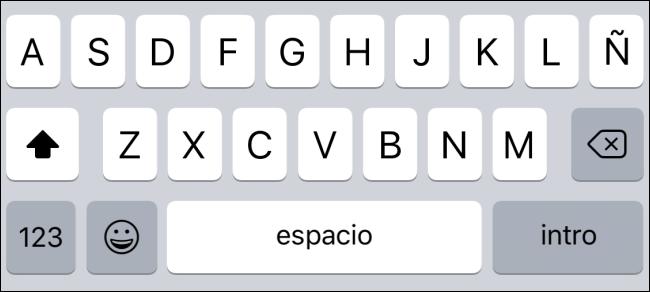Type away on the new language keyboard