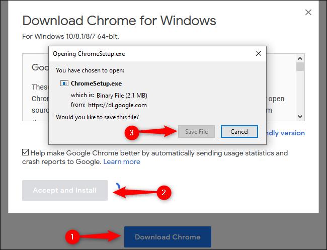 Windows 10 Downloading Chrome