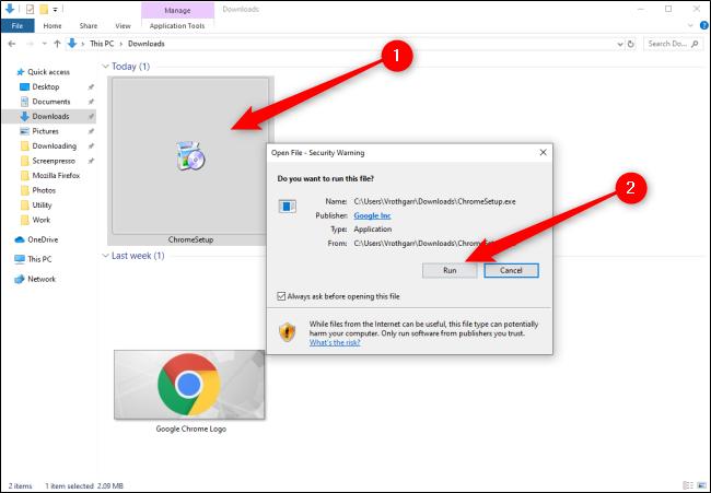 Windows 10 Installing Chrome