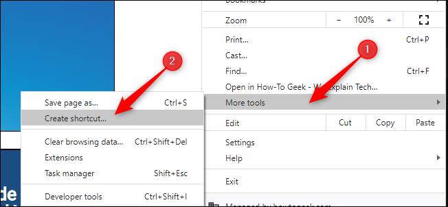 Create a Shortcut in Chrome