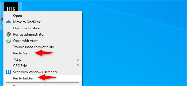 Pin Chrome Page to Start or Taskbar