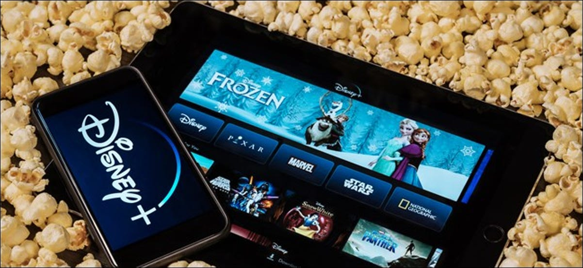 Disney+ on a Phone and Tablet