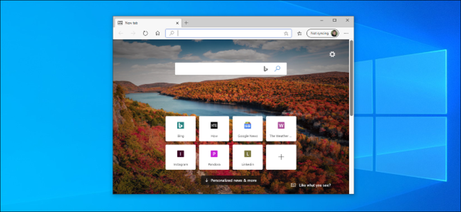 A Microsoft Edge browser window on a light Windows 10 desktop.
